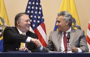 Moreno espera que el gobierno estadounidense ayude a atraer inversionistas al país. Foto: AFP