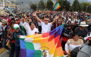 """""""La lucha no es solamente para los indígenas, sino para todos los ecuatorianos y ecuatorianas"""", remarcó Vargas. Foto: Reuters"""