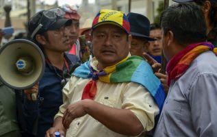 El presidente de la Conaie dijo que no tienen miedo de las acusaciones. Foto: AFP