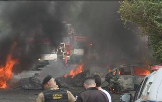 El accidente ocurrió hacia las 8.30 hora local en la esquina de las calles Minerva y Belmiro Braga, en Caiçara.