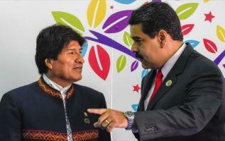"""""""Se está cocinando en el pueblo de Bolivia la vuelta, el regreso"""", dijo Maduro. Foto: archivo AFP"""