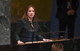 """""""Luego de 71 años de historia de la OEA, es tiempo de tener una mujer, porque no ha existido ninguna"""", dijo Espinosa. Foto: AFP"""
