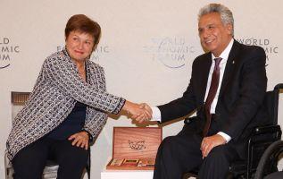 Moreno mantuvo un encuentro con la directora-gerente del Fondo Monetario Internacional (FMI), Kristalina Georgieva.