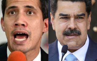 Juan Guaidó y Nicolás Maduro. Fotos: AFP / Reuters.