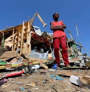Un local destruido, como consecuencia de la bomba. Foto: REUTERS.