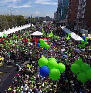 Al evento denominado Juntos por Ecuador, Paz y Democracia, llegaron ciudadanos de diferentes puntos del país. Foto: Twitter El ciudadano