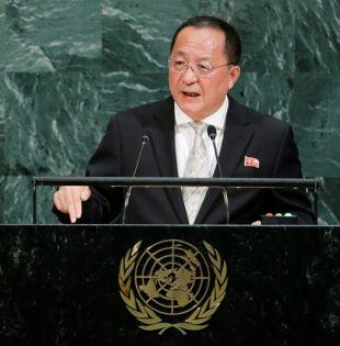 """Ri sostuvo asimismo que las """"bárbaras y odiosas"""" sanciones impuestas por Washington no harán cambiar de opinión a Pyongyang. Foto: Reuters"""