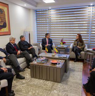 """""""La reunión será de carácter privado"""", señaló a la AFP una fuente del equipo negociador del gobierno. Foto: archivo Cancillería"""