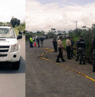 El hecho se registró en el kilómetro 48 vía Lita en el sector de El Pan, en San Lorenzo, provincia de Esmeraldas.