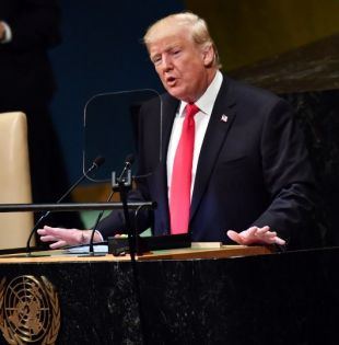 "Trump deploró la ""tragedia humana"" que vive Venezuela. Foto: AFP"