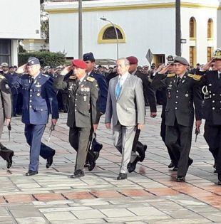 En su discurso, Jarrín insistió en la importancia de reinstitucionalizar a las Fuerzas Armadas. Foto: @DefensaEc
