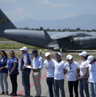 Llegan nuevas toneladas de ayuda de EEUU para Venezuela. Foto: AFP