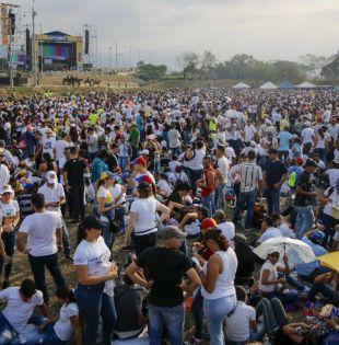 El concierto Venezuela Aid Life es respaldado por el líder opositor Juan Guaidó. Foto: AFP
