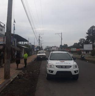 Personal policial realiza patrullajes preventivos en Macas.