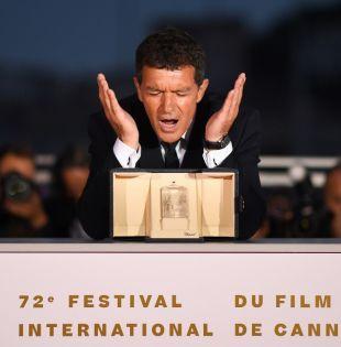 """Se premió el trabajo de Antonio Banderas en la película """"Dolor y gloria"""", de Pedro Almodóvar. Foto: AFP"""