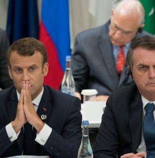 """Bolsonaro acusó a Macron de actuar con """"mentalidad colonialista"""". Foto: AFP"""