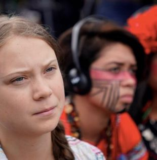 Gracias a Greta y a los miles de jóvenes y niños que salieron a marchar hoy, la esperanza de recuperar al planeta se mantiene viva. Foto: Reuters.