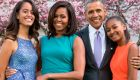 La familia Obama en la actualidad. Malia (izq) se apresta a ingresar a la universidad.