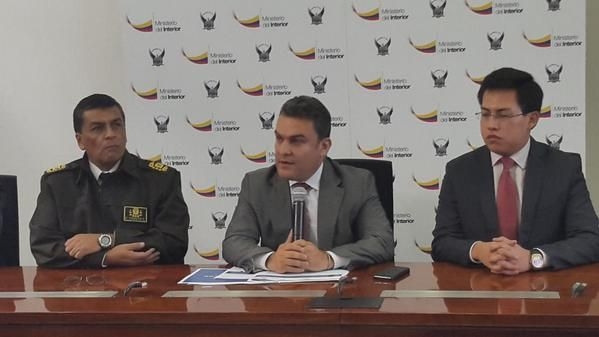 El Ministerio del Interior y la Policía Nacional dieron una rueda de prensa hoy para dar más detalles. Foto: Twitter / Policía Nacional