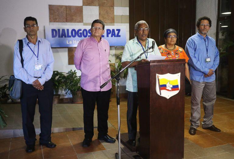Miembros de las FARC durante diálogos de paz en La Habana, el pasado 2 de febrero. Foto: Archivo / REUTERS