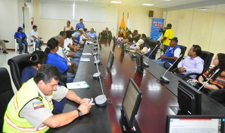 Comité de Operaciones de Emergencia (COE). Foto: Municipio de Esmeraldas
