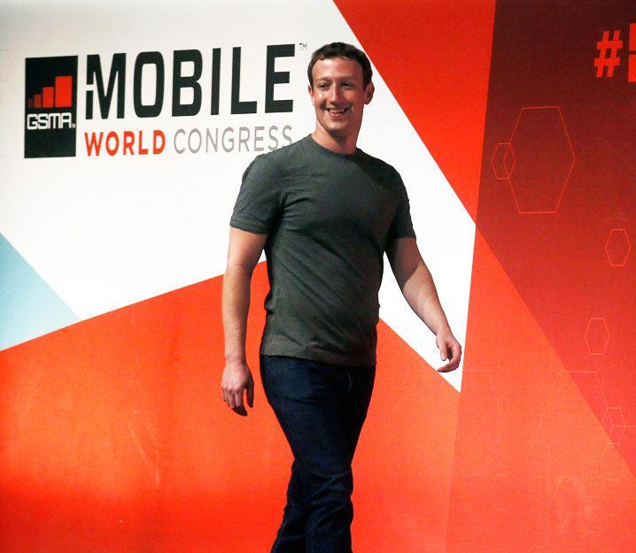 Mark Zuckerberg en la Mobile World Congress 2015. Foto: REUTERS