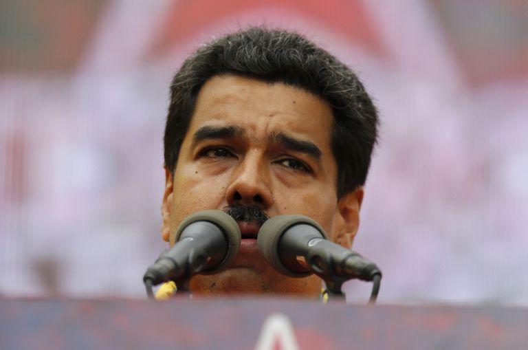 El presidente Nicolás Maduro durante un discurso en Venezuela. Foto: REUTERS.