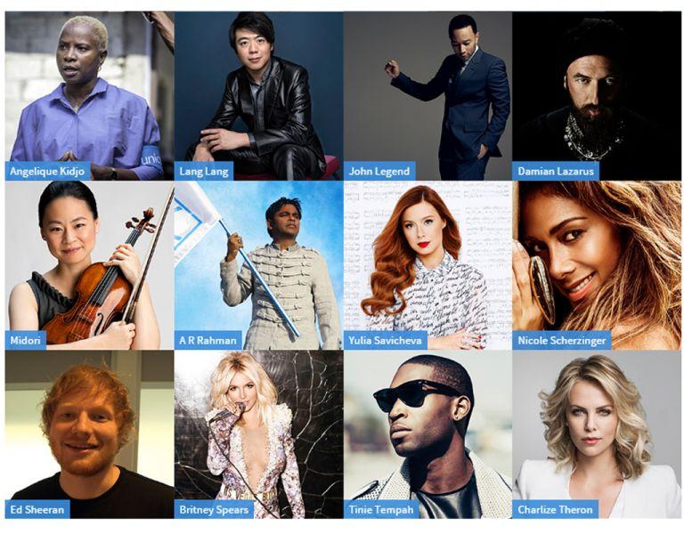 """Varios artistas aportaron en la campaña """"HappySoundsLike""""."""