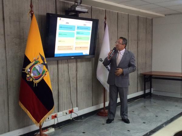 El ministro de Educación, Augusto Espinosa. Foto: Twitter / Ministerio de Educación.