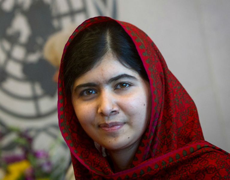 """""""Nunca las olvidaremos. Estaremos siempre a su lado"""", dijo Malala en una carta dirigida a las niñas de Chibok. Foto: REUTERS"""