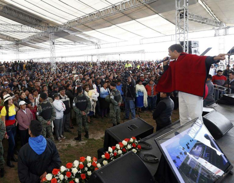 El mandatario este martes realizó varios actos en la provincia de Pichincha. Foto: Presidencia de Ecuador