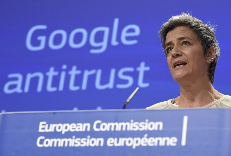 La Comisión reprocha a Google que ponga en evidencia sus propias páginas de servicios. Foto: AFP