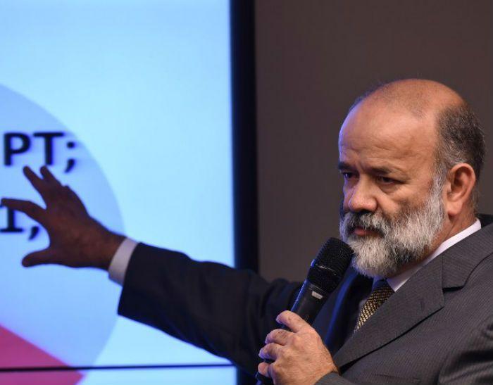 Joao Vaccari, tesorero del izquierdista Partido de los Trabajadores. Foto: AFP