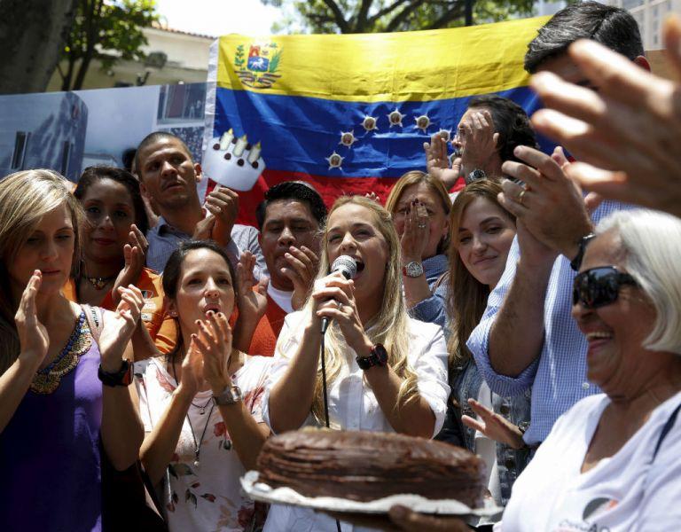 López fue homenajeado en varias plazas del este de Caracas. Foto: REUTERS