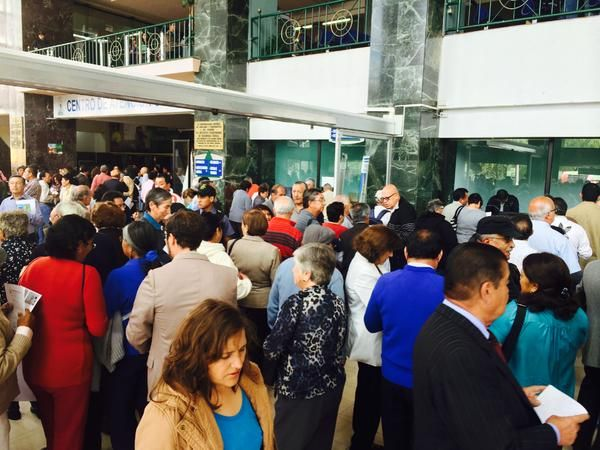 Malestar en el IESS. Foto: Juan Carlos Aizprúa / Ecuavisa