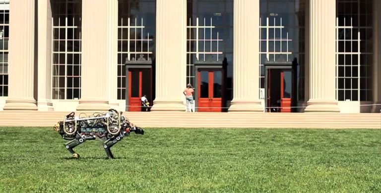Prueba del guepardo robótico. Foto: MIT Robotic Cheetah