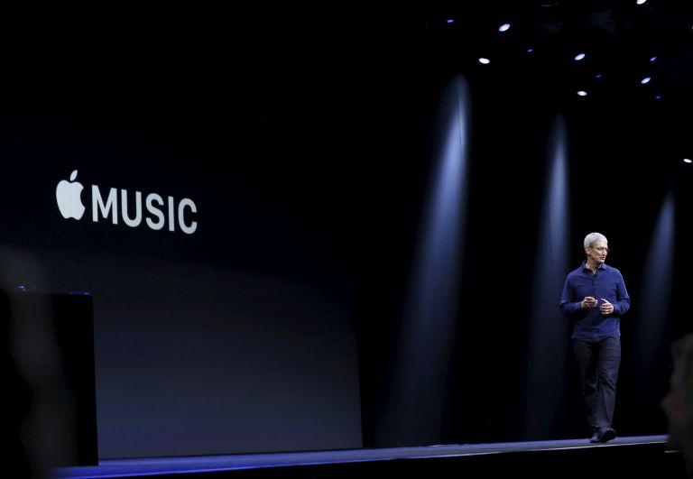 Lanzamiento Apple Music. Foto: REUTERS