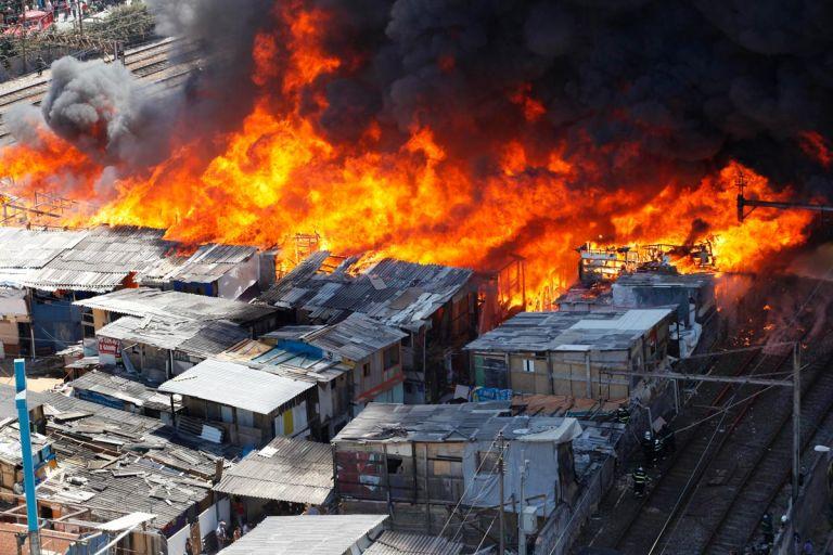 Incendio, Sao Paulo. Foto: SajomaDigital