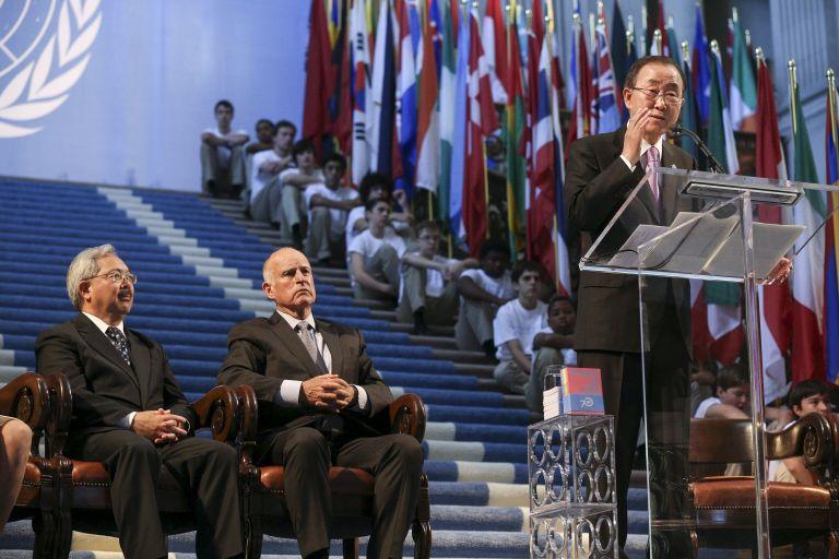El responsable de Naciones Unidas recordó que más de 3.000 personas participaron en el esfuerzo que dio luz al texto fundacional del organismo que dirige. Foto: REUTERS.
