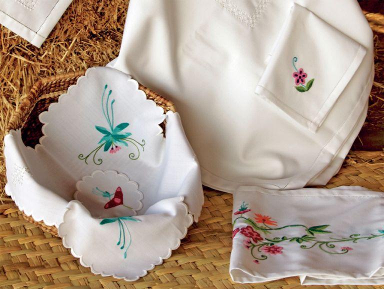 A Italia han exportado toallas e individuales de cocina con su marca. Foto: cortesía Sarum Maky