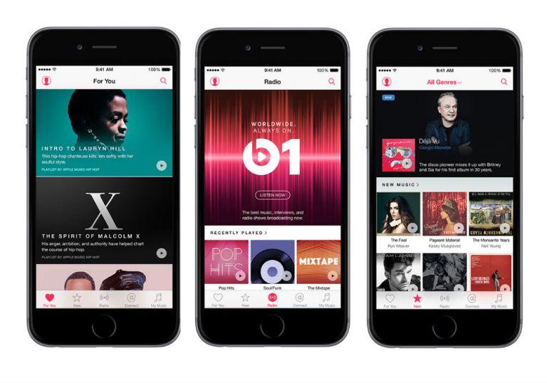El servicio Apple Music incluye una radio digital y una red social.