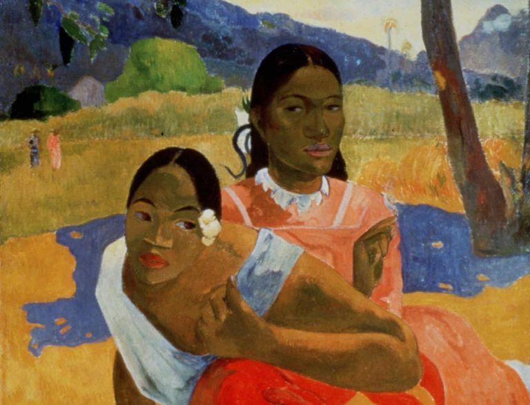 """Nafea faa ipoipo"" de Paul Gauguin, pintado en 1892."