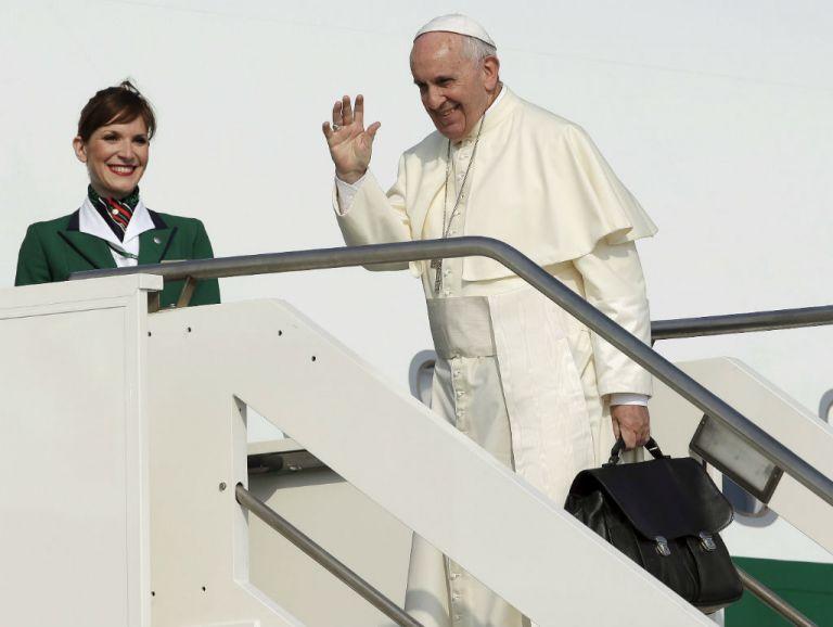 El papa Francisco viaja en un Airbus A330 de Alitalia, que despegó del aeropuerto de Fiumicino. Foto: REUTERS