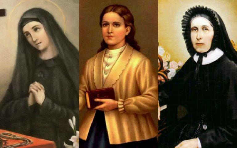 Mariana de Jesús, Narcisa de Jesús y Mercedes Molina.