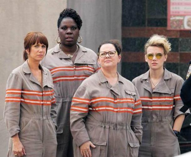 "Kristen Wiig, Leslie Jones, Melissa McCarthy y Kate McKinnon, las nuevas ""Cazafantasmas""."