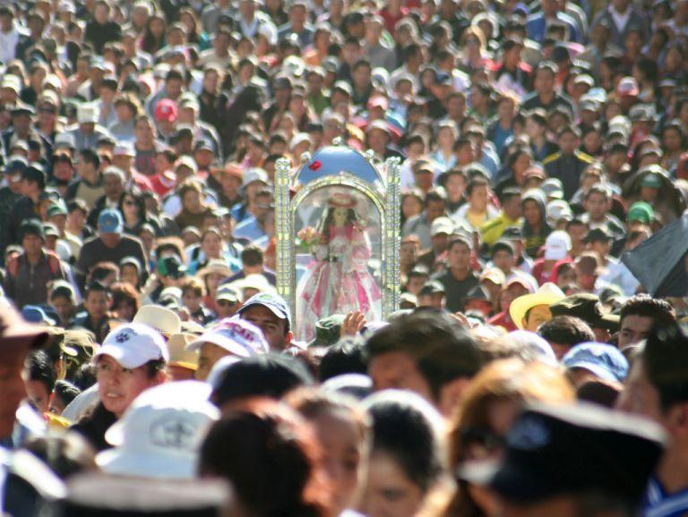 La romería de la Virgen de El Cisne tiene más de cuatro siglos de historia.