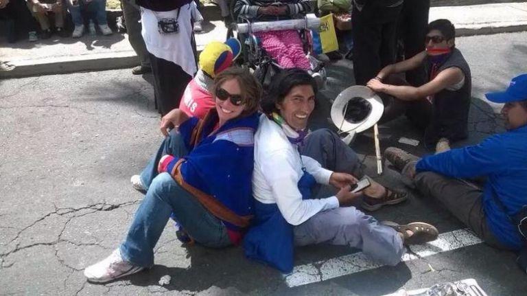 Picq es pareja del dirigente indígena Carlos Pérez Guartambel.