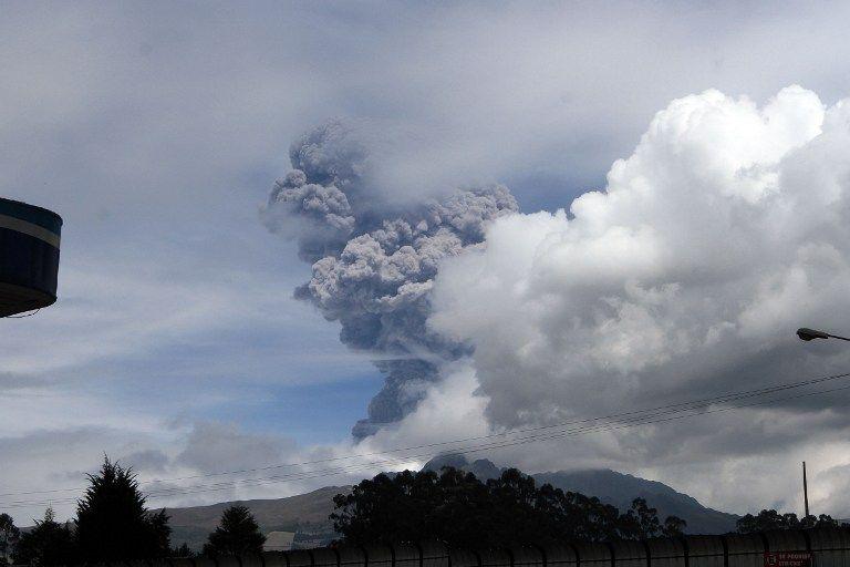 Se activó la alerta amarilla por la situación en el Cotopaxi. Foto: AFP