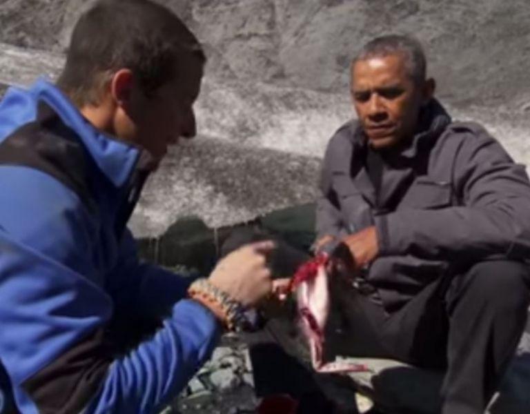 Barack Obama y Bear Grylls.