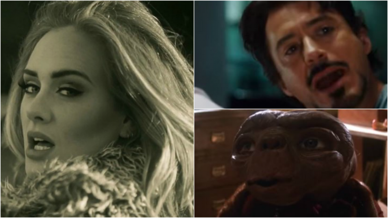 El tema fue interpretado a través de escenas de conocidos filmes.